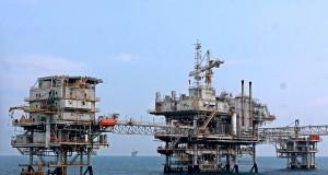 Anjungan PAPA, Flowstation Pertamina Hulu Energi Offshore North West Java (PHE ONWJ) di lepas pantai Karawang, Jabar, Senin (28/7)