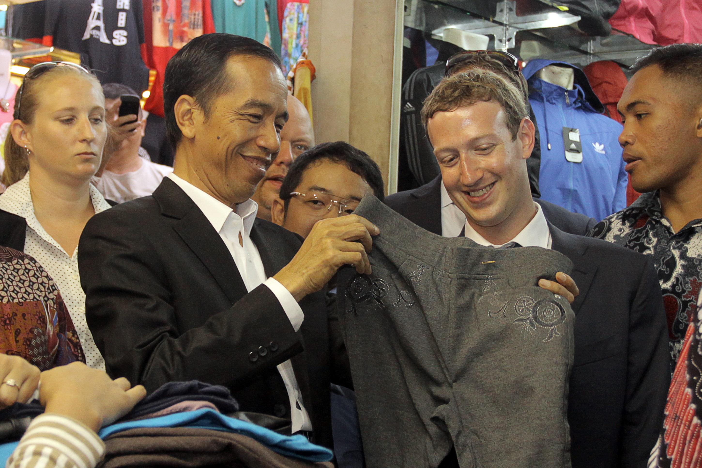 Presiden Jokowi & Mark Zuckerberg