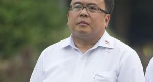 Menteri Keuangan Bambang Brodjonegoro diperkenalkan saat pengumuman Kabinet Kerja yang dipimpin Presiden Joko Widodo dan Wapres Jusuf Kalla di Istana Merdeka, Jakarta, Minggu (26/10).