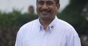 Menteri Pariwisata Arief Yahya diperkenalkan saat pengumuman Kabinet Kerja yang dipimpin Presiden Joko Widodo dan Wapres Jusuf Kalla di Istana Merdeka, Jakarta, Minggu (26/10).