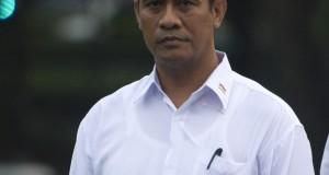 Menteri Pertanian Amran Sulaiman diperkenalkan saat pengumuman Kabinet Kerja yang dipimpin Presiden Joko Widodo dan Wapres Jusuf Kalla di Istana Merdeka, Jakarta, Minggu (26/10).