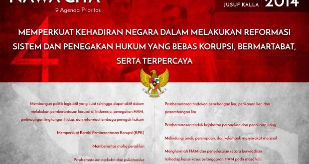 nawa cita keempat penegakan hukum dengan berlandaskan keadilan