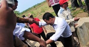 Menteri Pertanian menjanjikan optimalisasikan lahan seluas 1000 hektar di Kabupaten Brebes untuk meningkatkan indeks petanaman serta memberikan bantuan seperti mesin, irigasi, bibit dan pupuk