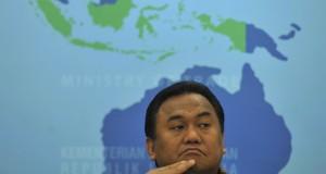 Menteri Perdagangan Rahmat Gobel memaparkan pencapaian  kinerja ekspor non migas di Kemendag, Jakarta, Selasa (6/1).