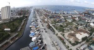 Foto aerial kawasan Pelabuhan Sunda Kelapa, Jakarta Utara, Rabu (18/2).