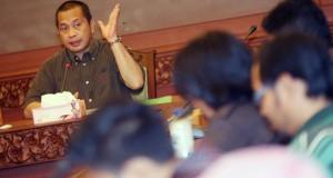 Menteri Desa Pembangunan Daerah Tertinggal dan Transmigrasi Marwan Ja'far memberikan keterangan pers pada wartawan mengenai Struktur Organisasi dan Tata Kerja Kementerian di Jakarta