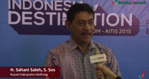 Bupati Belitung H Sahani Saleh
