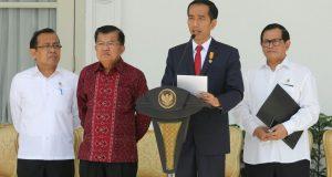 Presiden umumkan pergeseran dan pergantian menteri kabinet kerja periode 2014-2019 di Halaman Istana Merdeka (27/7), Photo: Mark Sinambela/Vibizmedia