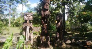 Patung Mbitoro Karya seni suku Kamoro yang merupakan bagian dari 7 suku yang tinggal di kabupaten Mimika