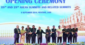 Opening Ceremony, Asean Summits & Related Summits, Laos, Sep 6, 2016 (Foto : Laily Rachev , Biro Pers Setpres)