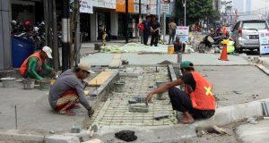 Perbaikan Trotoar di Jl. Suryopranoto, Jakarta Puast, 5 Okt 2016