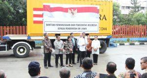 Pemerintah Indonesia memberikan bantuan berupa beras sebanyak 5000 metrik ton kepada pemerintah Srilanka.